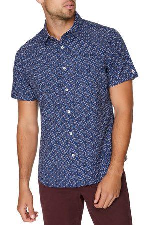 7 Diamonds Men's Electric Feel Short Sleeve Stretch Button-Up Shirt