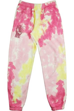 CROSS COLOURS Women's Power To The People Tie Dye Graphic Joggers