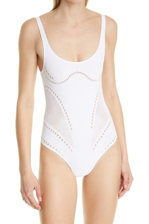 Stella McCartney Women's Stellawear Perforated One-Piece Swimsuit