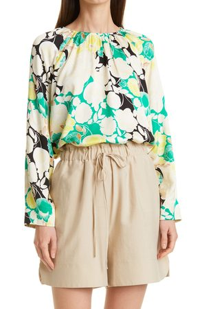 Rodebjer Women's Solomiya Floral Puff Long Sleeve Top