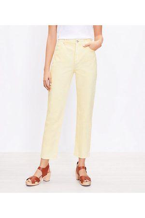 LOFT Women High Waisted - High Rise Straight Crop Jeans