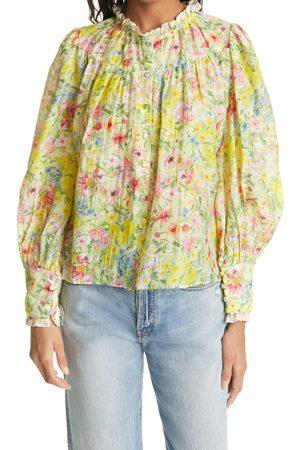 LOVESHACKFANCY Women's Lumiere Floral Blouse