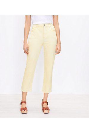 LOFT Women High Waisted - Curvy High Rise Straight Crop Jeans in Tender