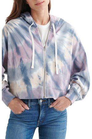 Lucky Brand Women's Boxy Zip Hooded Sweatshirt