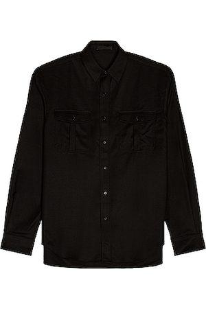 WARDROBE.NYC Men Long sleeves - Flannel Shirt in