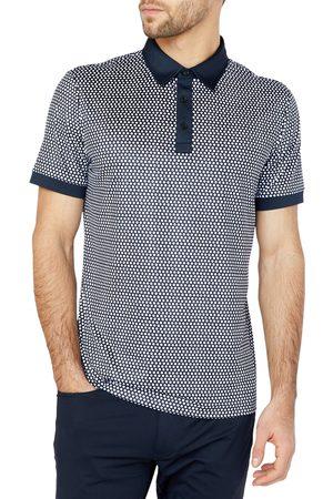 Redvanly Men's Powel Dot Print Golf Polo