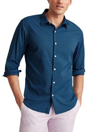 BONOBOS Men's Tech Slim Fit Check Stretch Button-Up Shirt