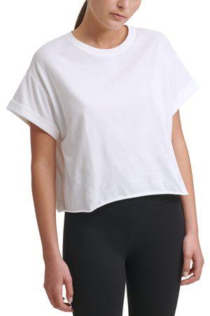 DKNY SPORT Women's Logo Patch Crop T-Shirt
