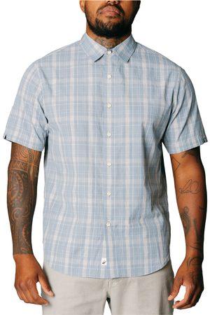 FUNDAMENTAL COAST Men's Rhodes Plaid Stretch Short Sleeve Button-Up Shirt