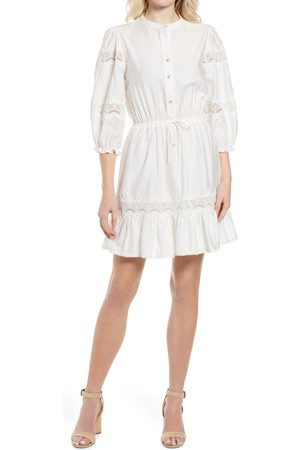 Rebecca Minkoff Women's Elle Lace Inset Ruffle Hem Dress
