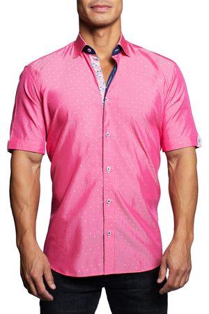 Maceoo Men's Galileo Silverdot Short Sleeve Button-Up Shirt