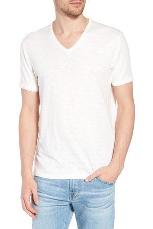 John Varvatos Men's Star Usa Slim Fit Slubbed V-Neck T-Shirt