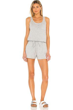 Bobi Women Playsuits - Supreme Jersey Romper in Grey.