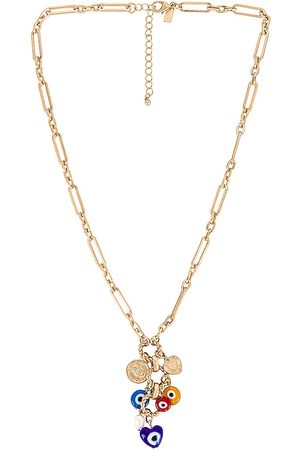 8 Other Reasons Women Necklaces - Evil Eye Necklace in Metallic .