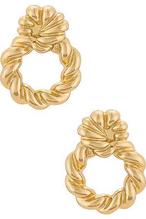 Ettika Women Earrings - Roped Hoop Earrings in Metallic .