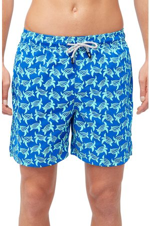 Tom & Teddy Men's Turtle Print Swim Trunks