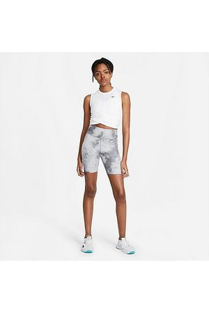 Nike Women's One Icon Clash Bike Shorts in Grey/Smoke Grey