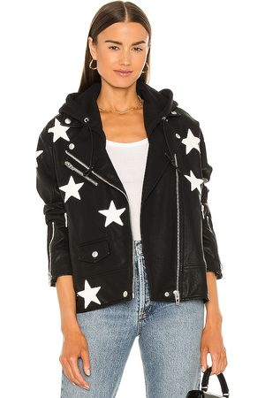 BLANK NYC Women Leather Jackets - X REVOLVE Twofer Vegan Leather Jacket in .