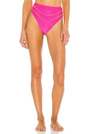 lovewave Women Bikinis - Balin High Waist Bottom in Fuchsia.