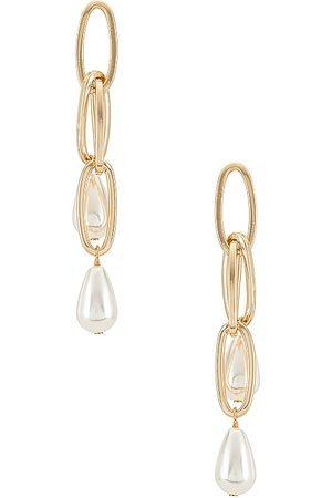 Ettika Women Earrings - Paperclip Drop Earrings in Metallic .