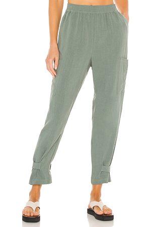 Bobi Women Pants - BLACK Indio Linen Pant in Sage.