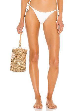 Frankies Bikinis Sky Ribbed Bikini Bottom in .