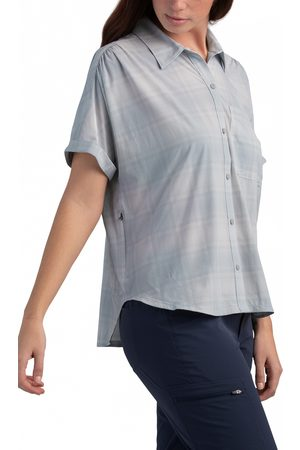 Outdoor Research Women's Women's Astroman Check Short Sleeve Sun Shirt