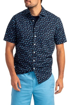 Rodd & Gunn Men's Havelock Harbour Print Short Sleeve Button-Up Shirt