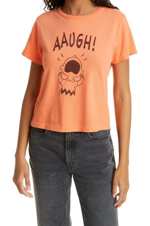 RE/DONE Women's X Peanuts Aaugh Classic Graphic Tee