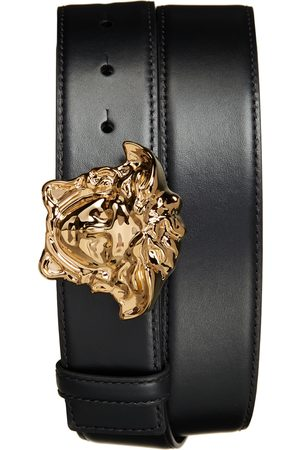 VERSACE Men's Medusa Head Leather Belt
