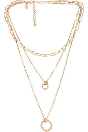 8 Other Reasons Circle Layer Necklace in Metallic .