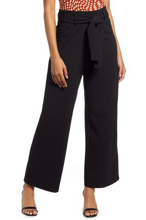 Open Edit Women's Belted High Waist Pants