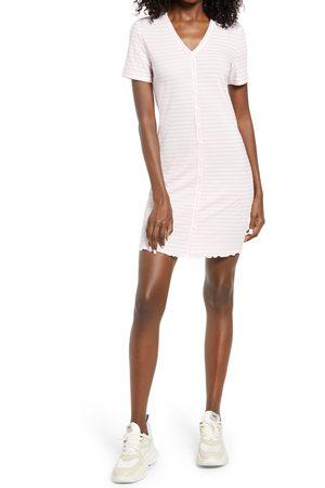 VERO MODA Women's Aria Stripe Short Sleeve Rib Dress
