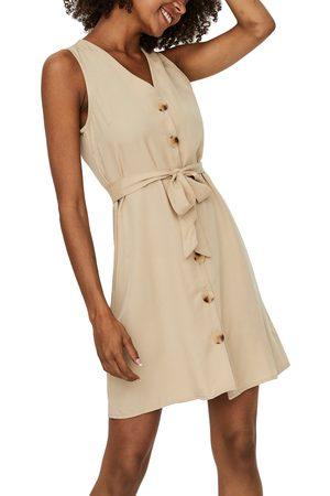 VERO MODA Women's Viviana Sleeveless Tie Waist Dress