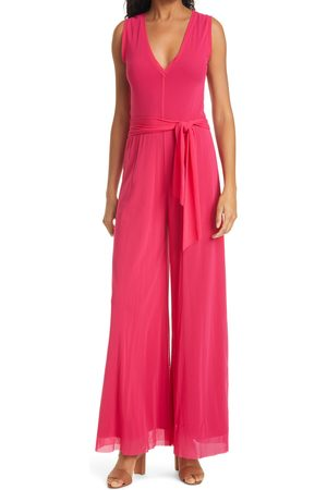 FUZZI Women's Tuta Wide Leg Jumpsuit