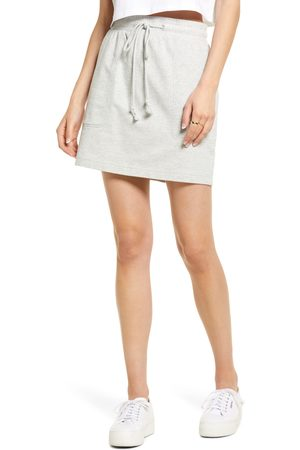 Open Edit Women's Stretch Cotton Pull-On Skirt