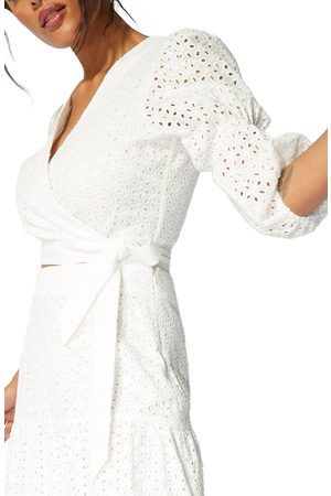 Minkpink Women's Juliana Eyelet Midi Skirt
