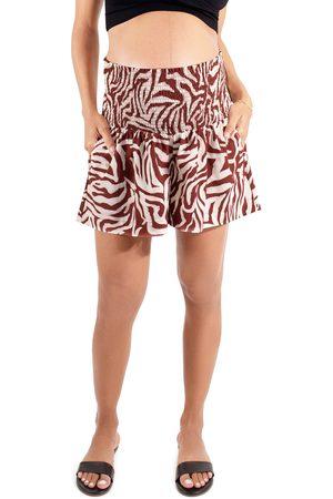 Ingrid & Isabel Women's Ingird & Isabel Everywear Smocked Maternity Shorts
