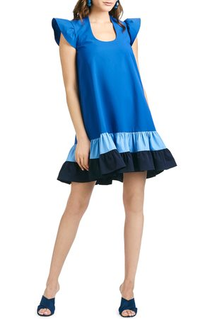 Sachin & Babi Women's Sharla Oversize Ruffle Cap Sleeve Dress