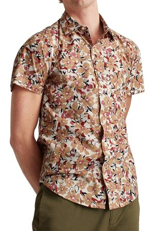 BONOBOS Men's Riviera Floral Print Short Sleeve Button-Up Shirt