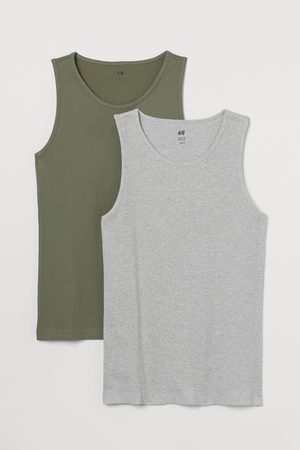H&M Men Tank Tops - 2-pack Slim Fit Tank Tops