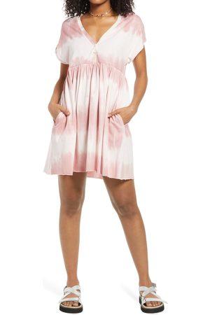 BP. Women's Bp Henley Babydoll Minidress