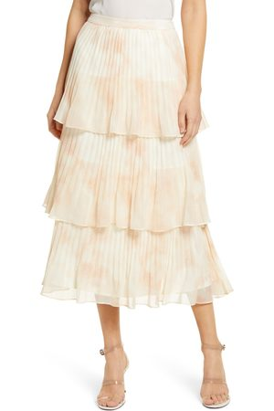 Rachel Parcell Women's Pleated Tiered Chiffon Maxi Skirt