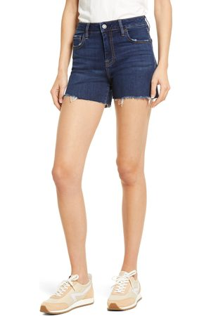Hidden Jeans Women's High Waist Raw Hem Denim Shorts
