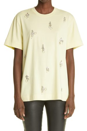 Givenchy Women's Crystal & Piercing Embellished Cotton T-Shirt