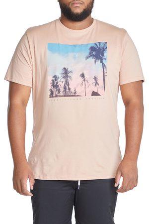 Johnny Bigg Men's Big & Tall Palm Photo Print Graphic Tee
