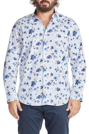 Johnny Bigg Men's Big & Tall Watson Floral Print Stretch Cotton Button-Up Shirt