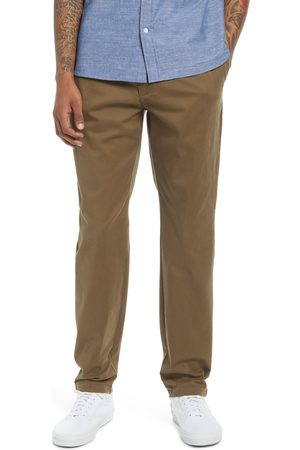 Treasure & Bond Men's Elastic Waist Flat Front Chinos