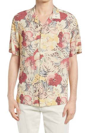 AllSaints Men's Wailea Floral Short Sleeve Button-Up Camp Shirt