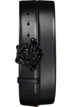 VERSACE Men's Medusa Head Leather Belt